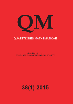 Quaestiones Mathematicae template (Taylor and Francis)