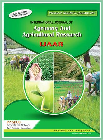 International Journal of Agronomy and Agricultural Research (IJAAR) template (International Network for Natural Sciences)