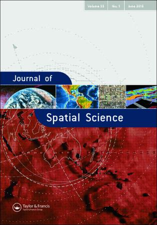 Journal of Spatial Science template (Taylor and Francis)