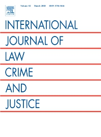 International Journal of Law, Crime and Justice template ( Crime and Justice)