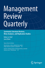 Management Review Quarterly template (Springer)