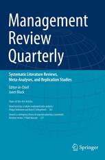 Management Review Quarterly template (Springer)