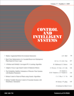 Control and Intelligent Systems template (ACTA Press)