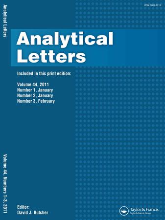 Analytical Letters template (Taylor and Francis)