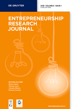 Entrepreneurship Research Journal template (De Gruyter)
