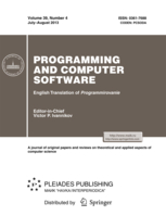 Programming and Computer Software template (Springer)