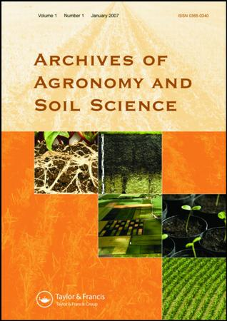 Archives of Agronomy and Soil Science template (Taylor and Francis)