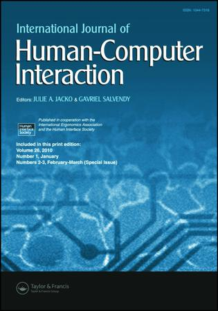 International Journal of Human–Computer Interaction template (Taylor and Francis)