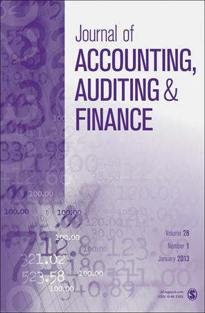 Journal of Accounting, Auditing & Finance template ( Auditing & Finance)