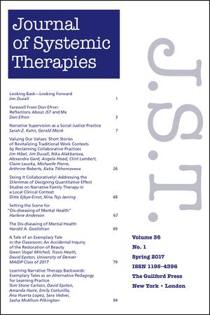 Guilford Press - Journal of Systemic Therapies Template