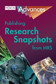 MRS Advances template (Cambridge University Press)