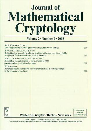 Journal of Mathematical Cryptology template (De Gruyter)