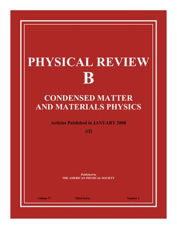 Physical Review B template (American Physical Society)
