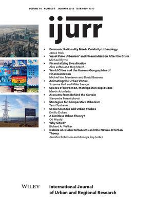 Wiley - International Journal of Urban and Regional Research