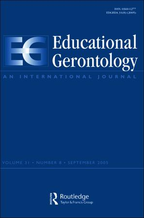 Educational Gerontology template (Taylor and Francis)