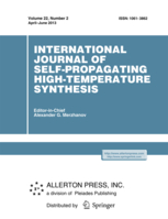International Journal of Self-Propagating High-Temperature Synthesis template (Springer)