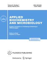 Applied Biochemistry and Microbiology template (Springer)