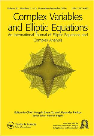 Complex Variables and Elliptic Equations template (Taylor and Francis)