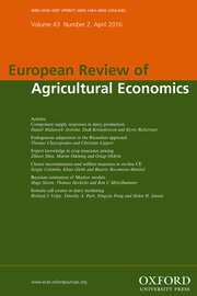 European Review of Agricultural Economics template (Oxford University Press)