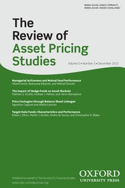 The Review of Asset Pricing Studies template (Oxford University Press)