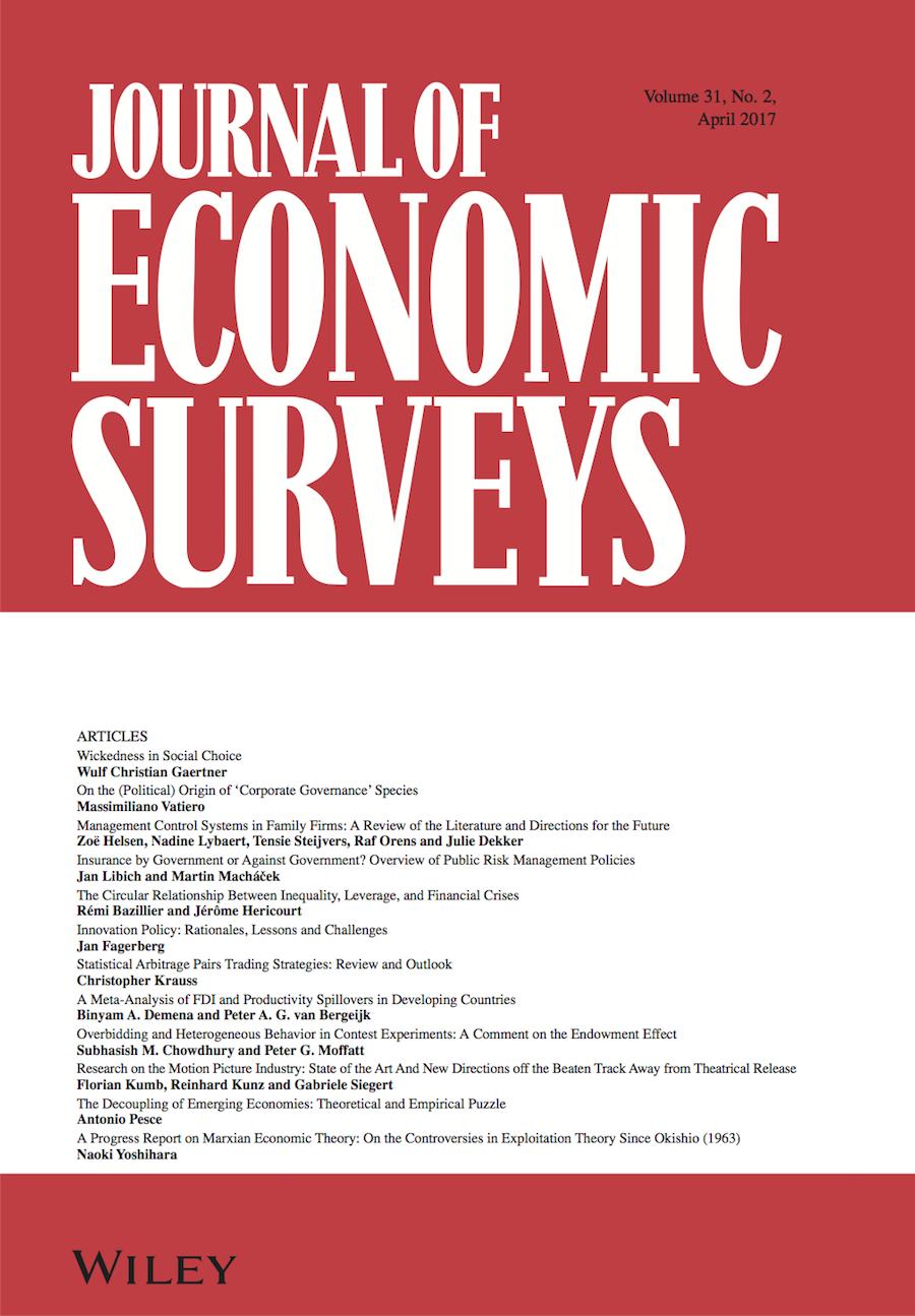 Journal of Economic Surveys template (Wiley)