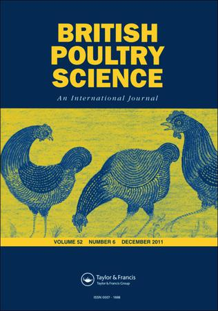British Poultry Science template (Taylor and Francis)