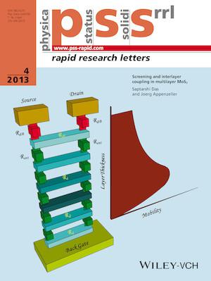 physica status solidi (RRL) - Rapid Research Letters template (Wiley)