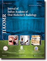 Journal of Indian Academy of Oral Medicine and Radiology  template (Medknow)