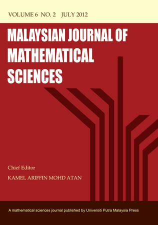 Malaysian Journal of Mathematical Sciences (MJ MS) template (Universiti Putra Malaysia)