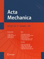 Acta Mechanica template (Springer)
