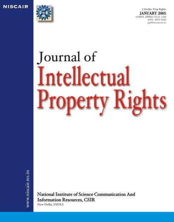 Journal of Intellectual Property Rights (JIPR) template (NISCAIR Publications)