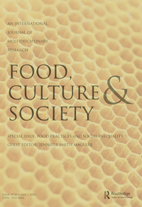Food, Culture and Society template ( Culture and Society)