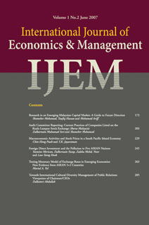 International Journal of Economics and Management (IJEM) template (Universiti Putra Malaysia)