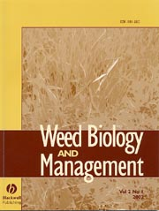 Weed Biology and Management template (Wiley)