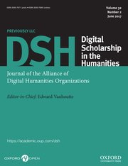 Digital Scholarship in the Humanities template (Oxford University Press)