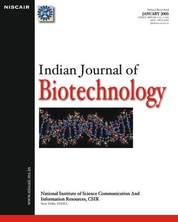 Indian Journal of Biotechnology (IJBT) template (NISCAIR Publications)