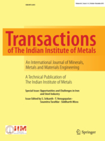 Transactions of the Indian Institute of Metals template (Springer)