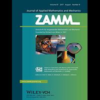 ZAMM - Journal of Applied Mathematics and Mechanics / Zeitschrift für Angewandte Mathematik und Mechanik template (Wiley)