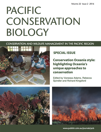 Pacific Conservation Biology template (CSIRO Publishing)