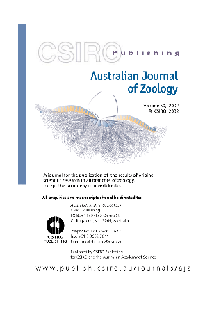 Australian Journal of Zoology template (CSIRO Publishing)
