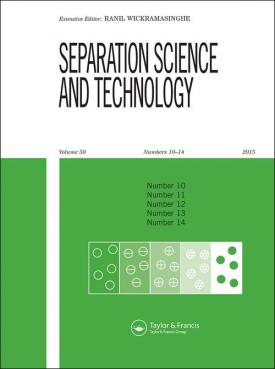 Separation Science and Technology template (Taylor and Francis)