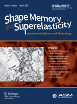 Shape Memory and Superelasticity template (Springer)