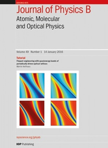 Journal of Physics B: Atomic, Molecular and Optical Physics template ( Molecular and Optical Physics)