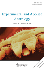 Experimental and Applied Acarology template (Springer)