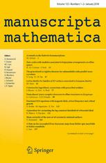 manuscripta mathematica template (Springer)