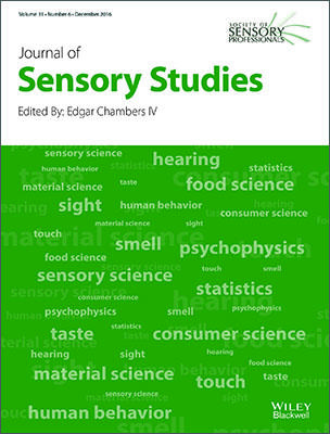 Journal of Sensory Studies template (Wiley)