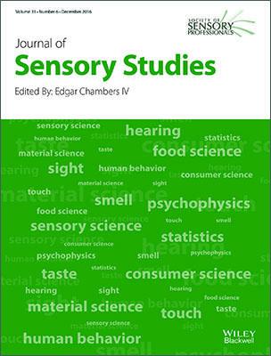 Journal of Sensory Studies template (Wiley)