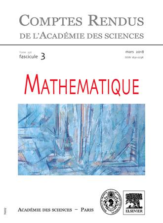 Comptes Rendus Mathematique template (Elsevier)