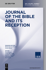 Journal of the Bible and its Reception template (De Gruyter)