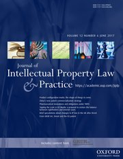 Journal of Intellectual Property Law & Practice template (Oxford University Press)